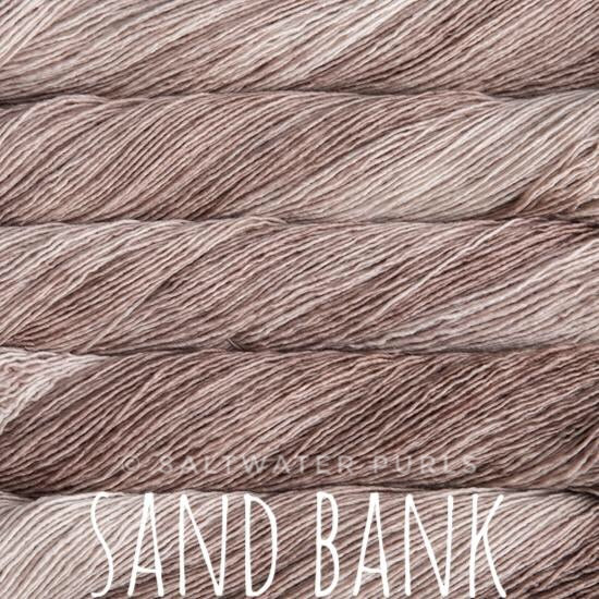 Malabrigo Mechita yarn in Canada Sand Bank