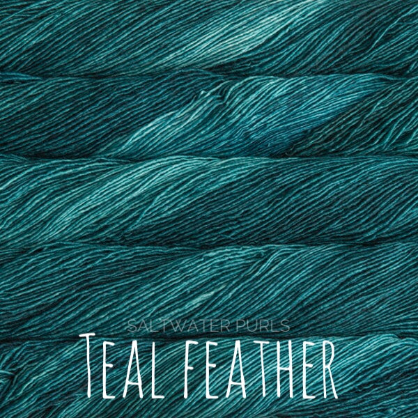 Malabrigo Mechita yarn in Canada teal feather
