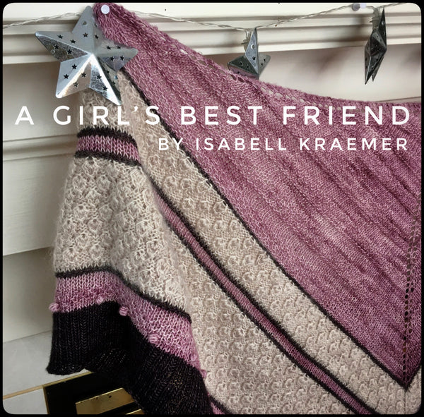 a girl's best friend shawl kit yarn in Canada