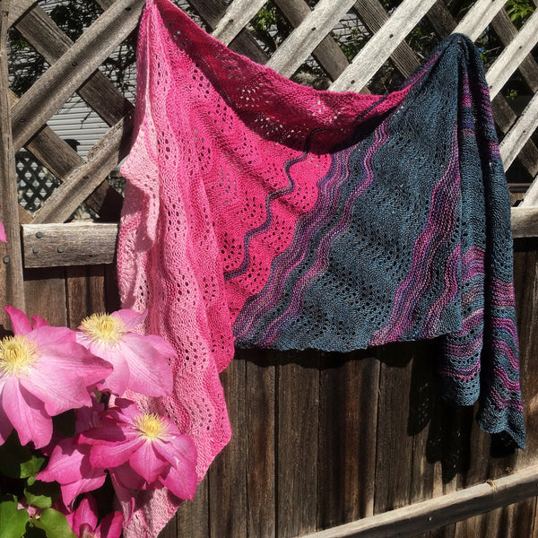 Time Trades wrap Caitlin Hunter yarn kit in Canada