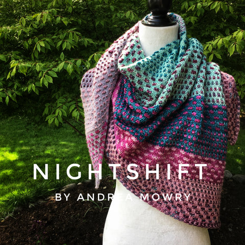 Nightshift Shawl by Andrea Mowry yarn kit in Canada