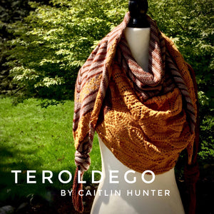 Teroldego by Caitlin Hunter shawl yarn kit Canada