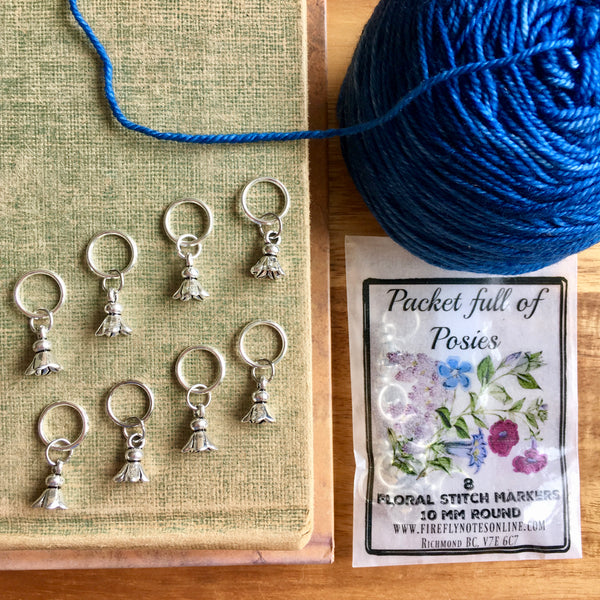 Firefly Notes flower posies stitch marker project keeper Canada