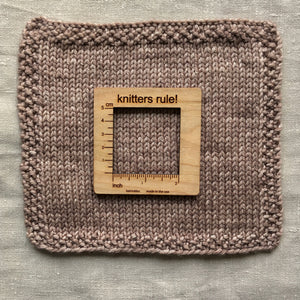 Katrinkles Knitters Rule Wooden Gauge Swatch in Canada