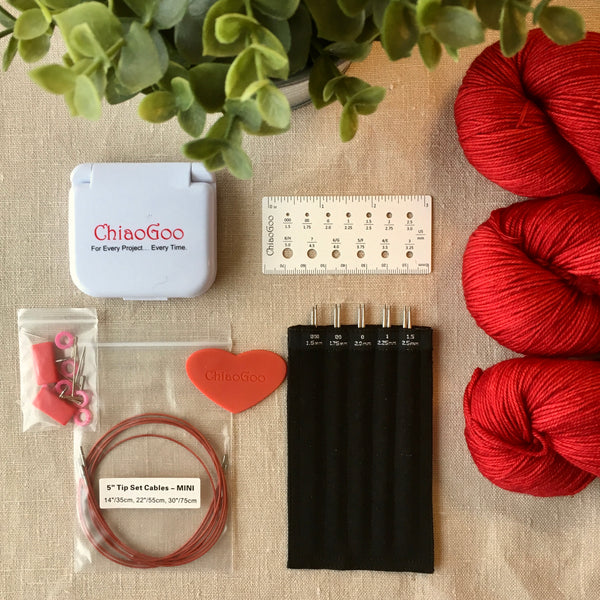 ChiaoGoo Twist Red Lace Interchangeable Mini Needle Sets