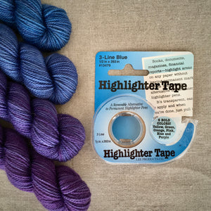 Highlighter Tape for knitting and crocheting patterns
