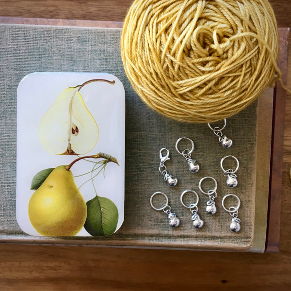 Firefly Notes pears stitch marker project keeper Canada