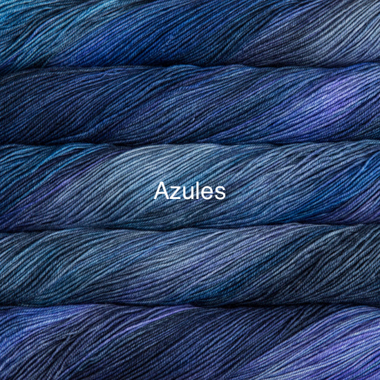 Malabrigo Sock fingering weight yarn in Canada 856 Azules