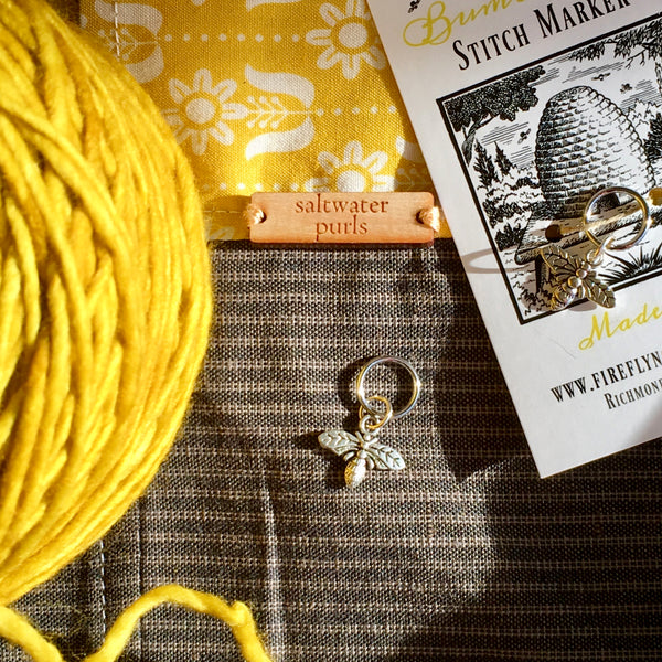 Firefly Notes Stitch Marker Progress Keeper Honey Bumble bee