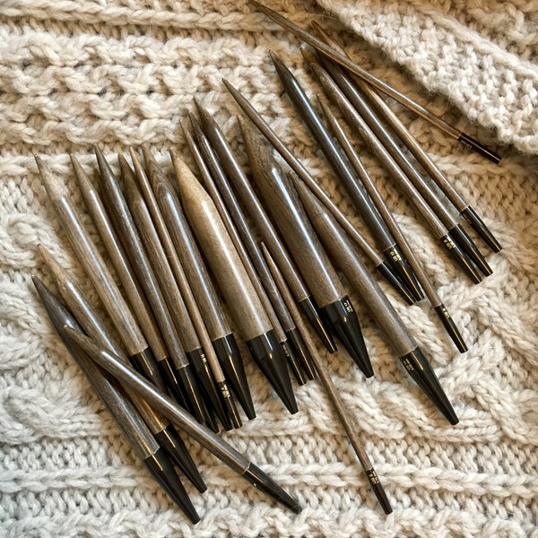 "Lykke Driftwood 5"" Interchangeable Knitting Needle Tips"