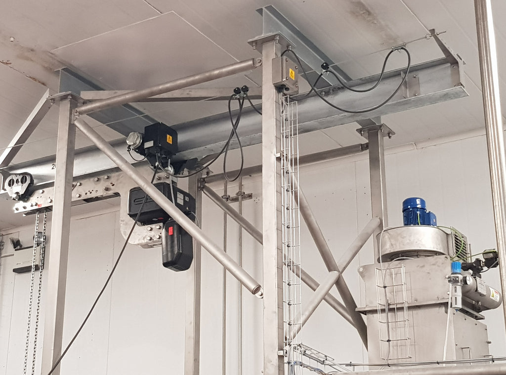 NEW GIS GPR Hoist providing solutions for the Bulk Bag Food Industry