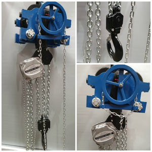 10t Hand Chain block with combined Low Headroom geared travel trolley