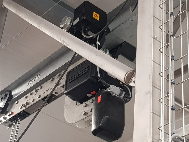 GPR Stainless Steel hoist for food production, pharmaceutical, marine or water treatment applications - LTM Lift Turn Move