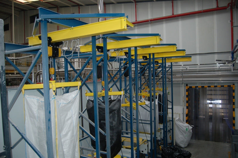 GIS GP Series Electric Chain Hoist and Electric Travel Trolley for bulk bag dischargers