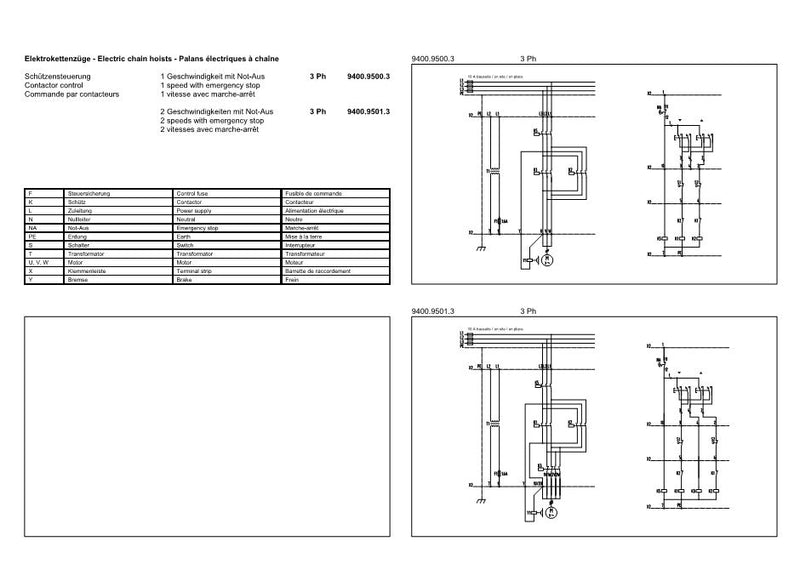GIS GCH series - Wiring Diagrams A Hoist Contactors Wiring Diagram on