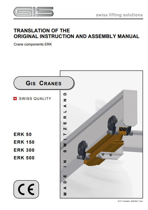 GIS Crane End Carriages and Top Running End carriages - Instruction manual