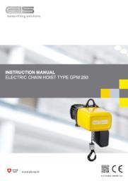 GIS GPM Series Hoist - Operating Instructions & CE Declaration - LTM Lift Turn Move