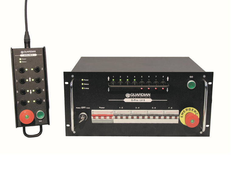 Touring Hoist Controller - Guardian G-Pro 4, 8 or 12 Channel - LTM Lift Turn Move