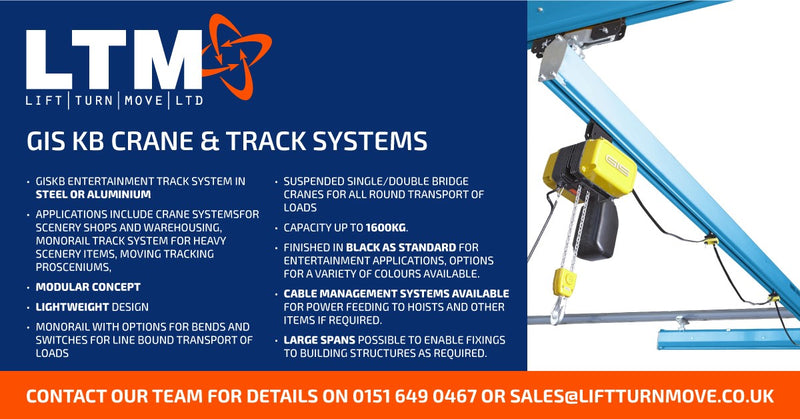 GISKB Entertainment Track system in steel or Aluminium