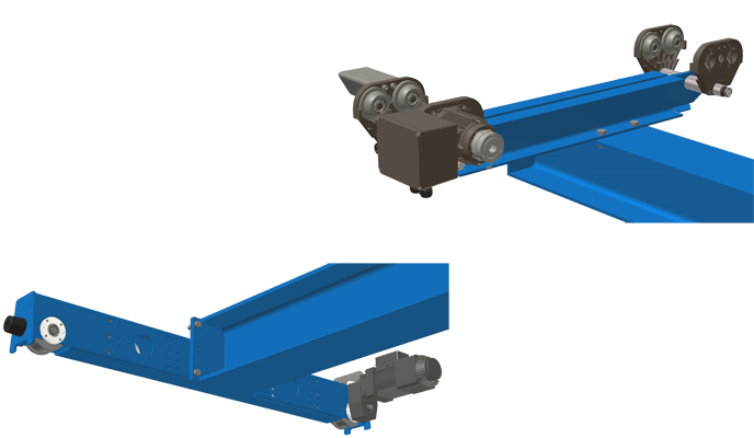 GIS Crane End Carriages - Underslung