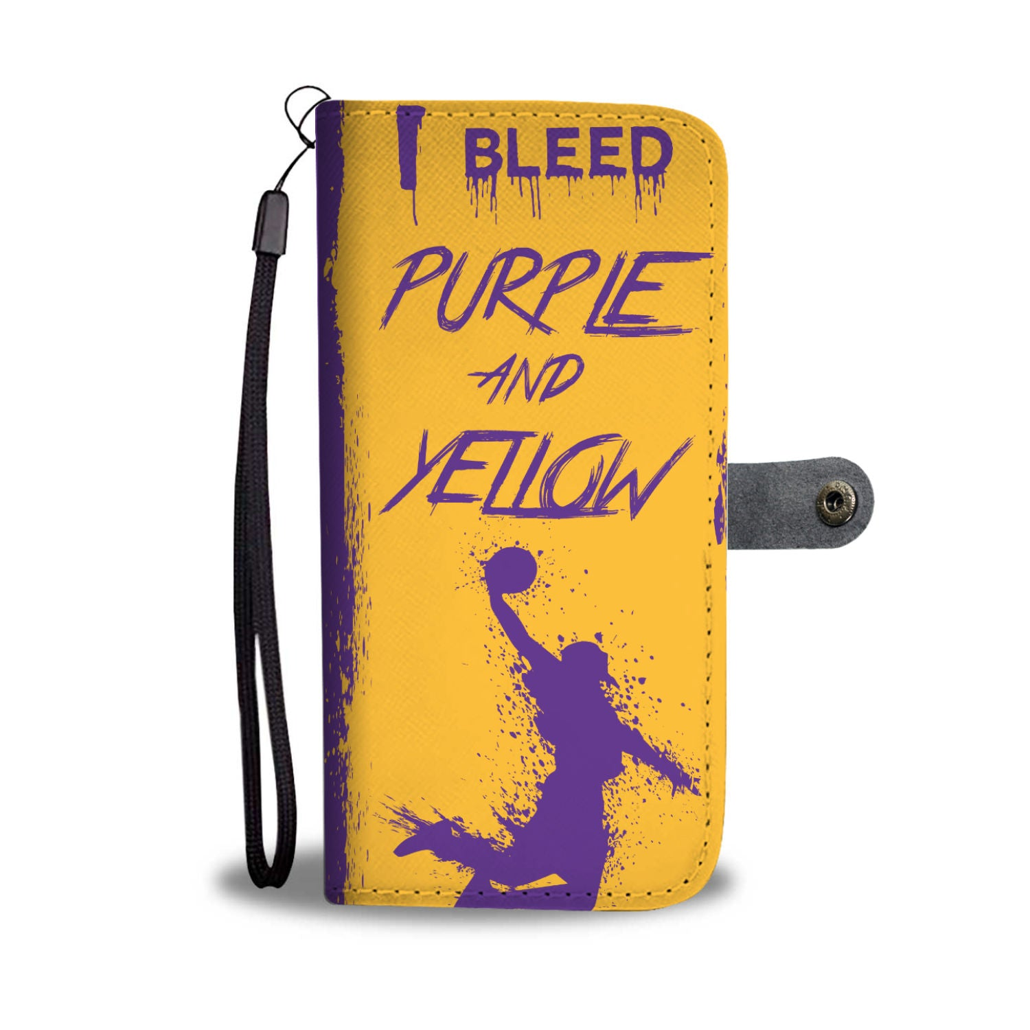 4a5c98d1c2a I Bleed Purple and Yellow Los Angeles Lakers Phone Wallet (American  Basketball)