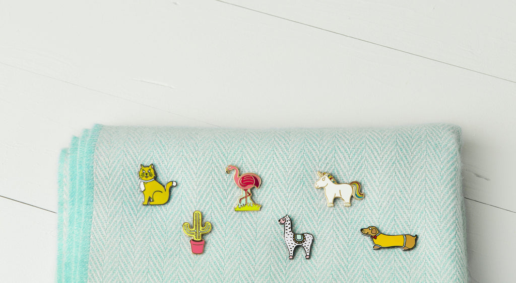 Cat Enamel Pin Badge