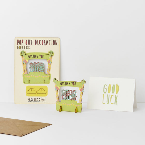 Pop Out Good Luck Greeting Card