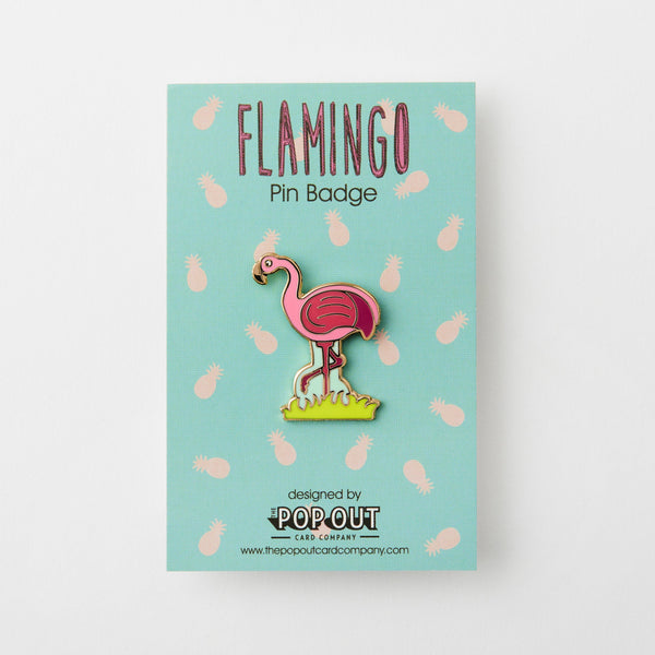 Flamingo Enamel Pin Badge