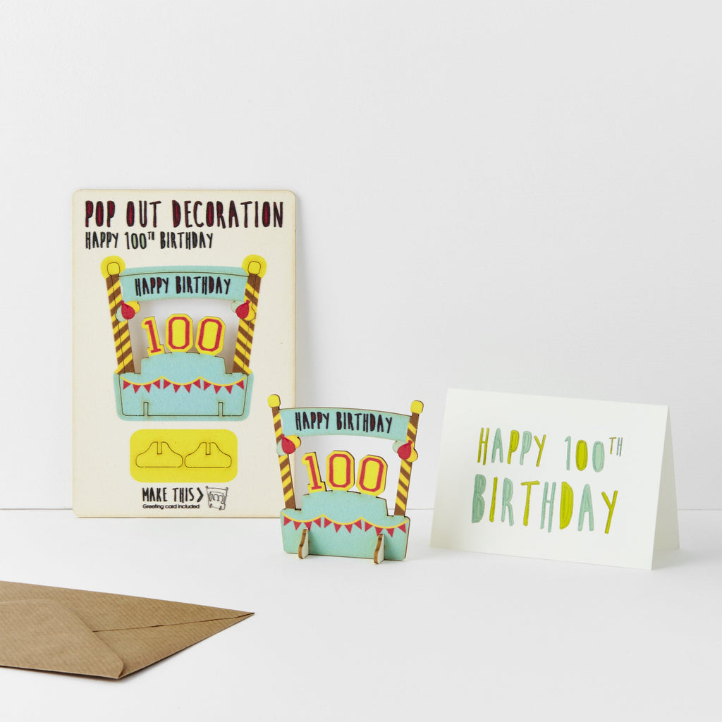 100th Birthday Card Greeting Card The Pop Out Card Company The
