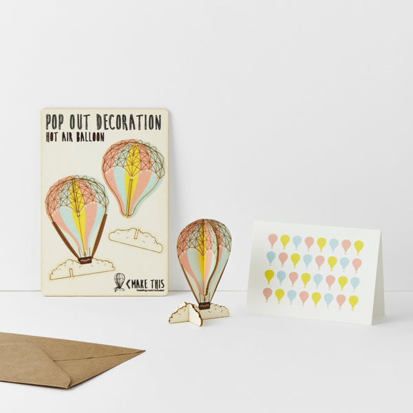 Pop Out Hot Air Balloon Greeting Card