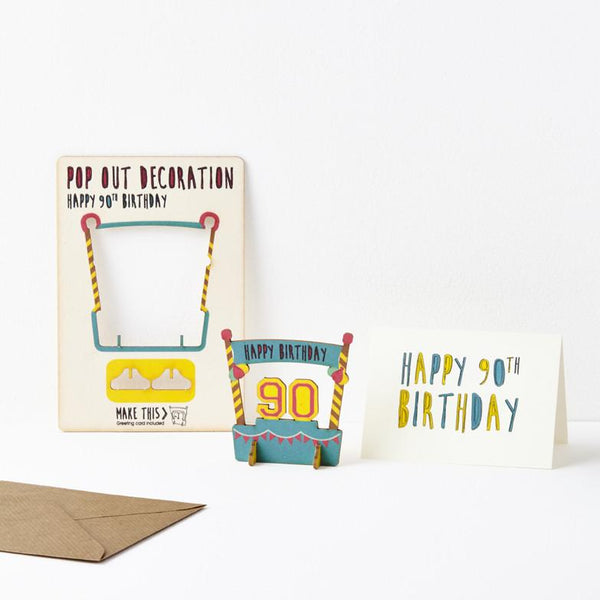 Pop Out 90th Birthday Card