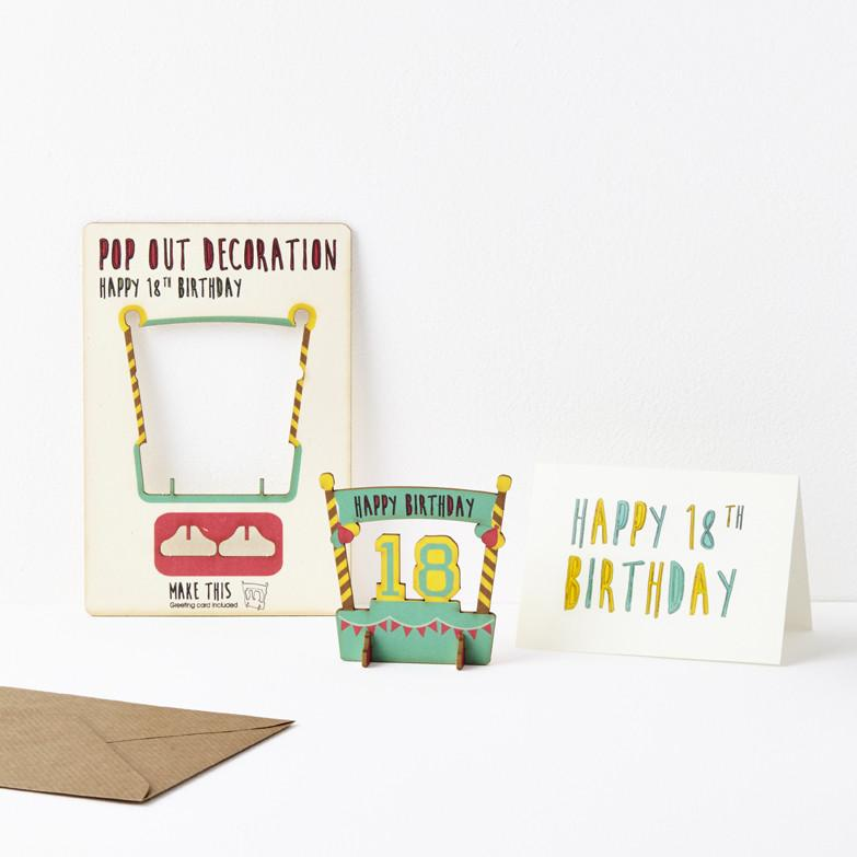 Pop Out 18th Birthday Card