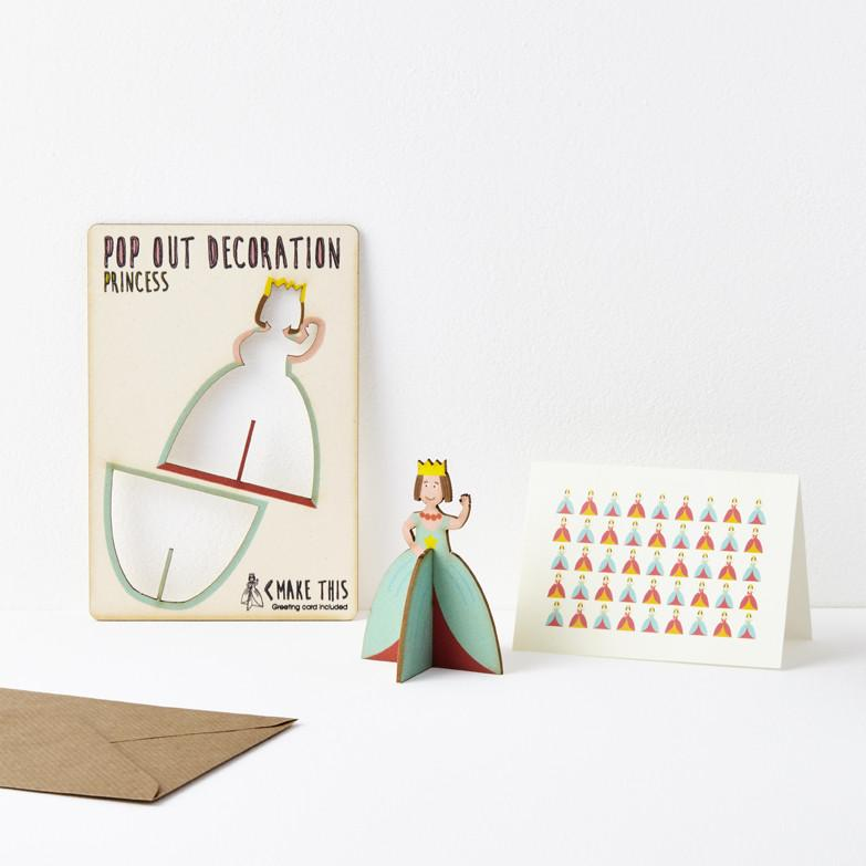 Pop Out Princess Greeting Card