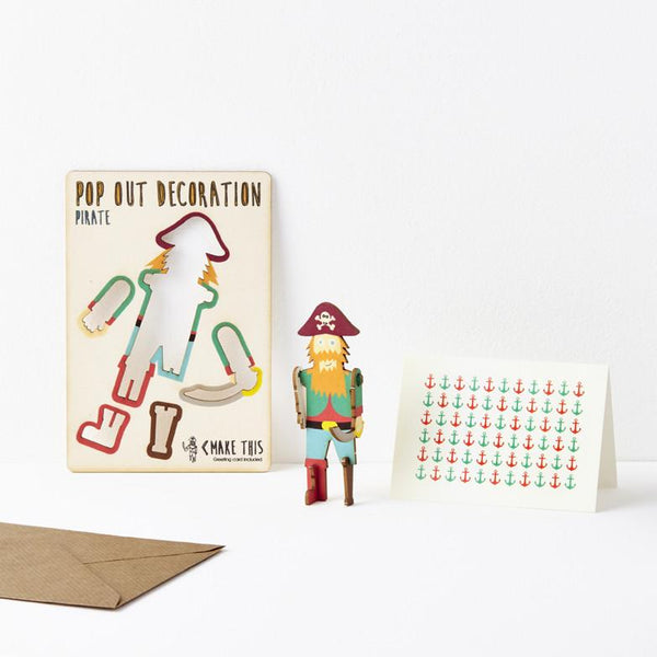 Pop Out Pirate Greeting Card