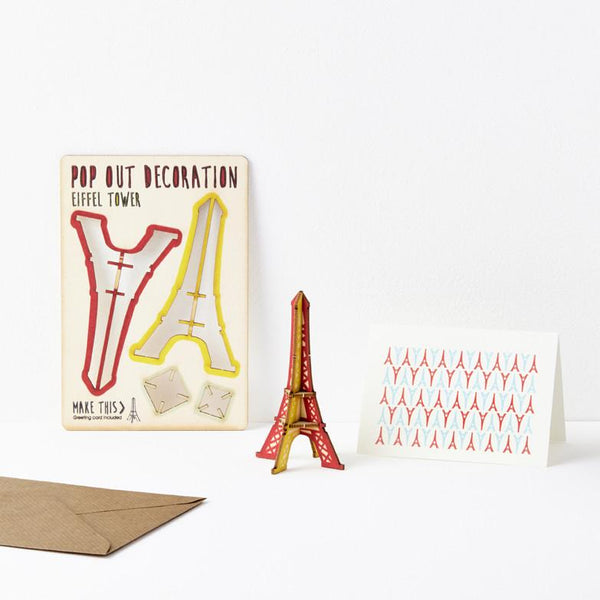 Pop Out Eiffel Tower Greeting Card