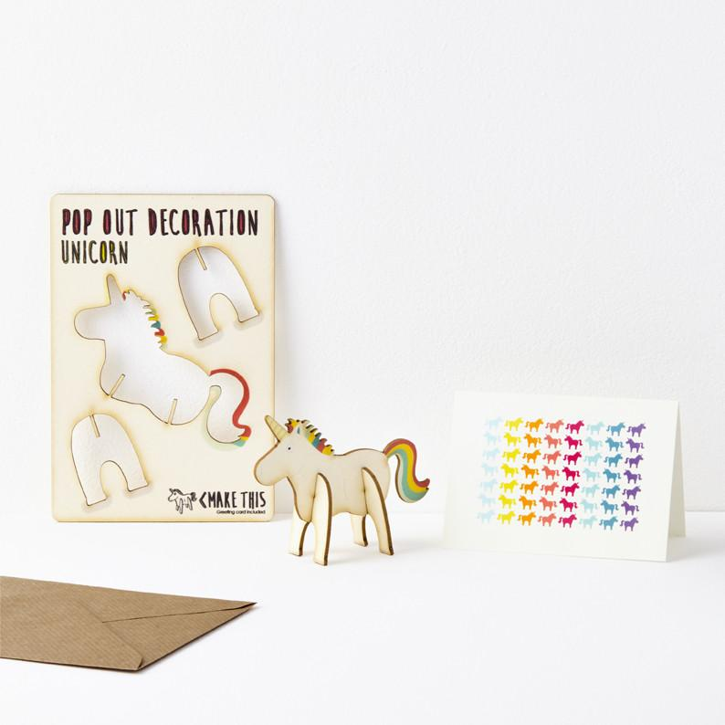 Unicorn card greeting card the pop out card company the pop pop out unicorn greeting card m4hsunfo
