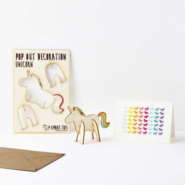 Pop Out Unicorn Greeting Card