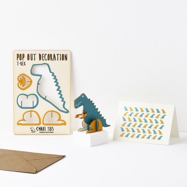 Pop Out T-Rex Greeting Card
