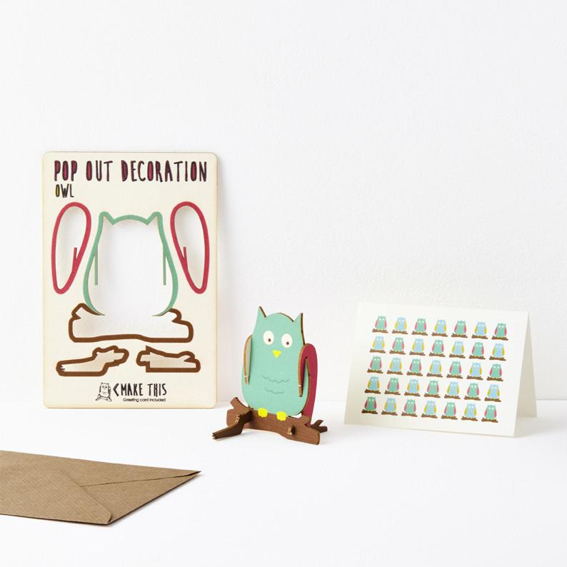 Pop Out Owl Greeting Card
