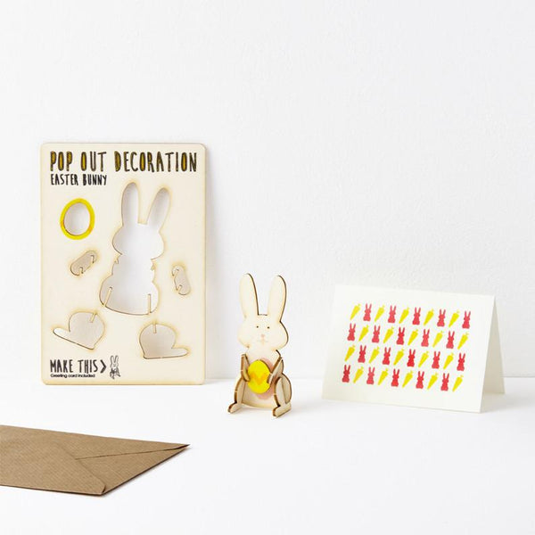 Pop Out Easter Bunny Greeting Card