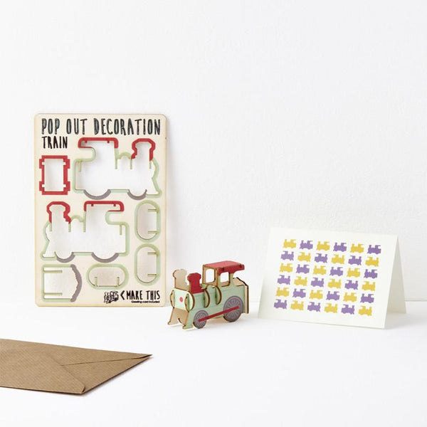 Pop Out Train Greeting Card