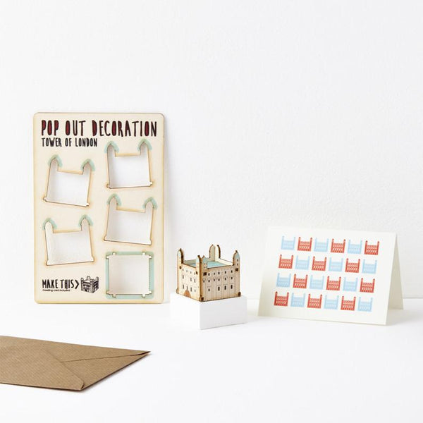 Pop Out Tower of London Greeting Card