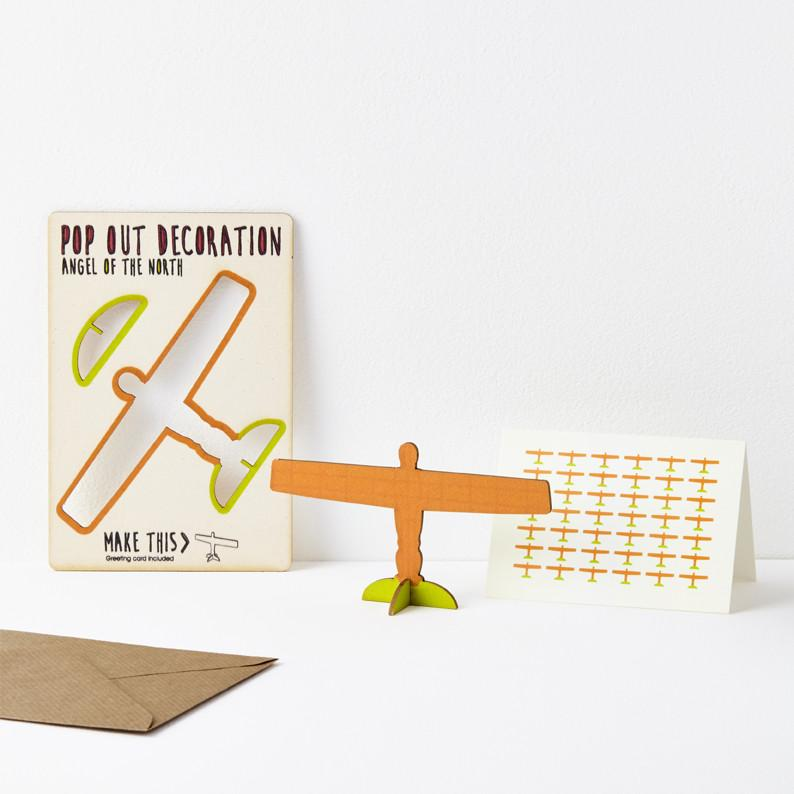 Pop Out Angel of the North Greeting Card