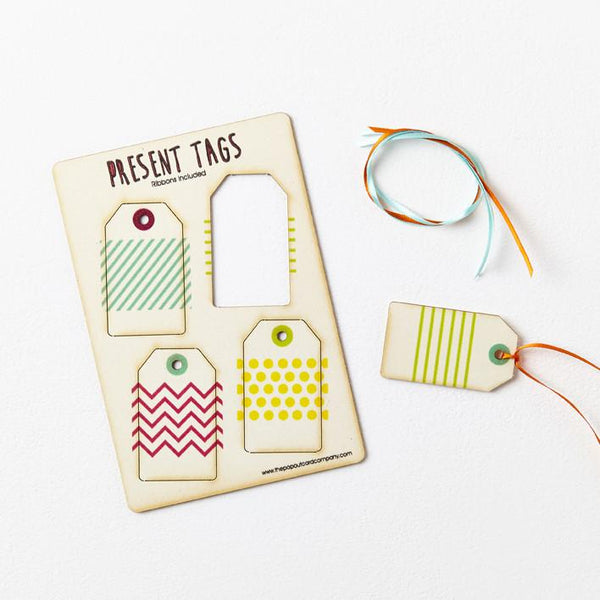 Pop Out Pattern Gift Tags