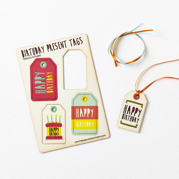 Pop Out Birthday Gift Tags