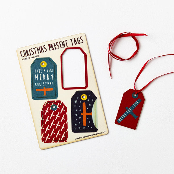 Pop Out North East Christmas Gift Tags