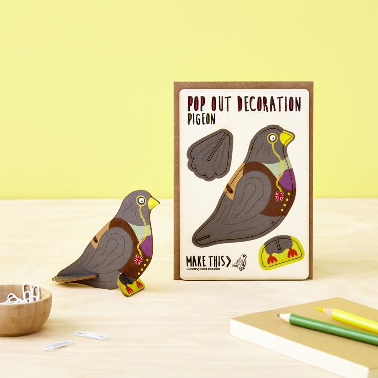 Pop Out Pigeon Greeting Card