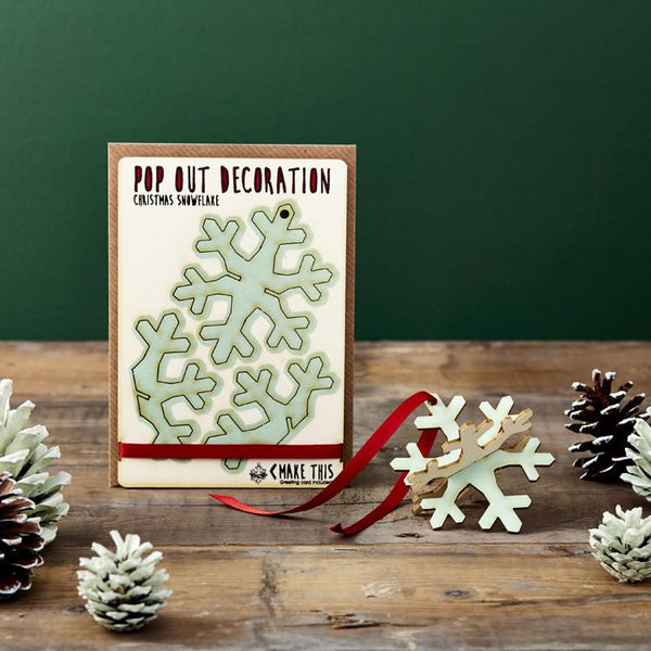Pop Out Snowflake Christmas Card