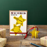 Pop Out Star Christmas Card
