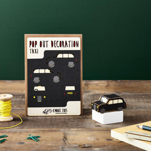 Pop Out Taxi Greeting Card